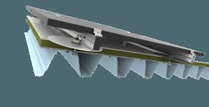Ballastvrij constructiemateriaal schuin / hellend dak