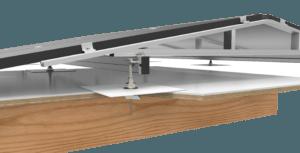 Plat dak ballastvrij montagesysteem