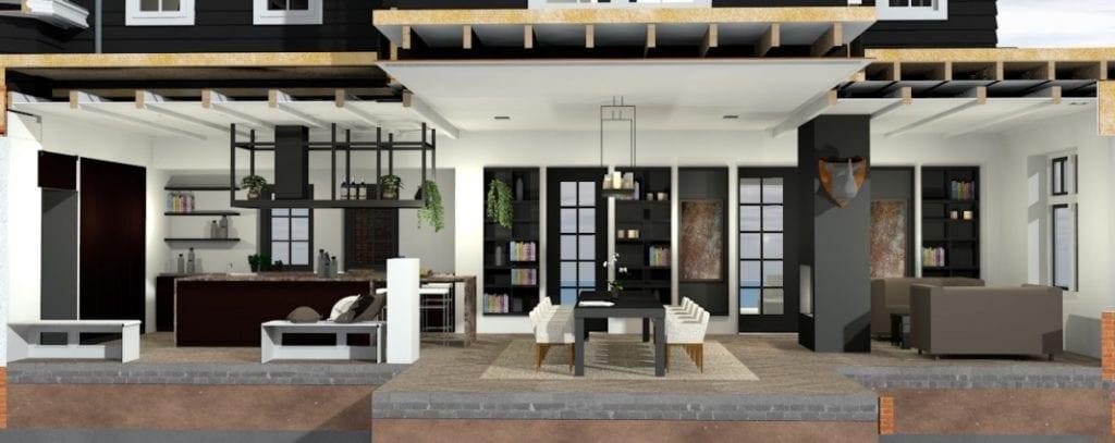Binnenkant gerenoveerde luxe villa