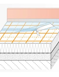 opbouw vloerverwarming tackerplaat