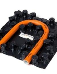 Sample noppenplaat vloerverwarming zonder isolatie