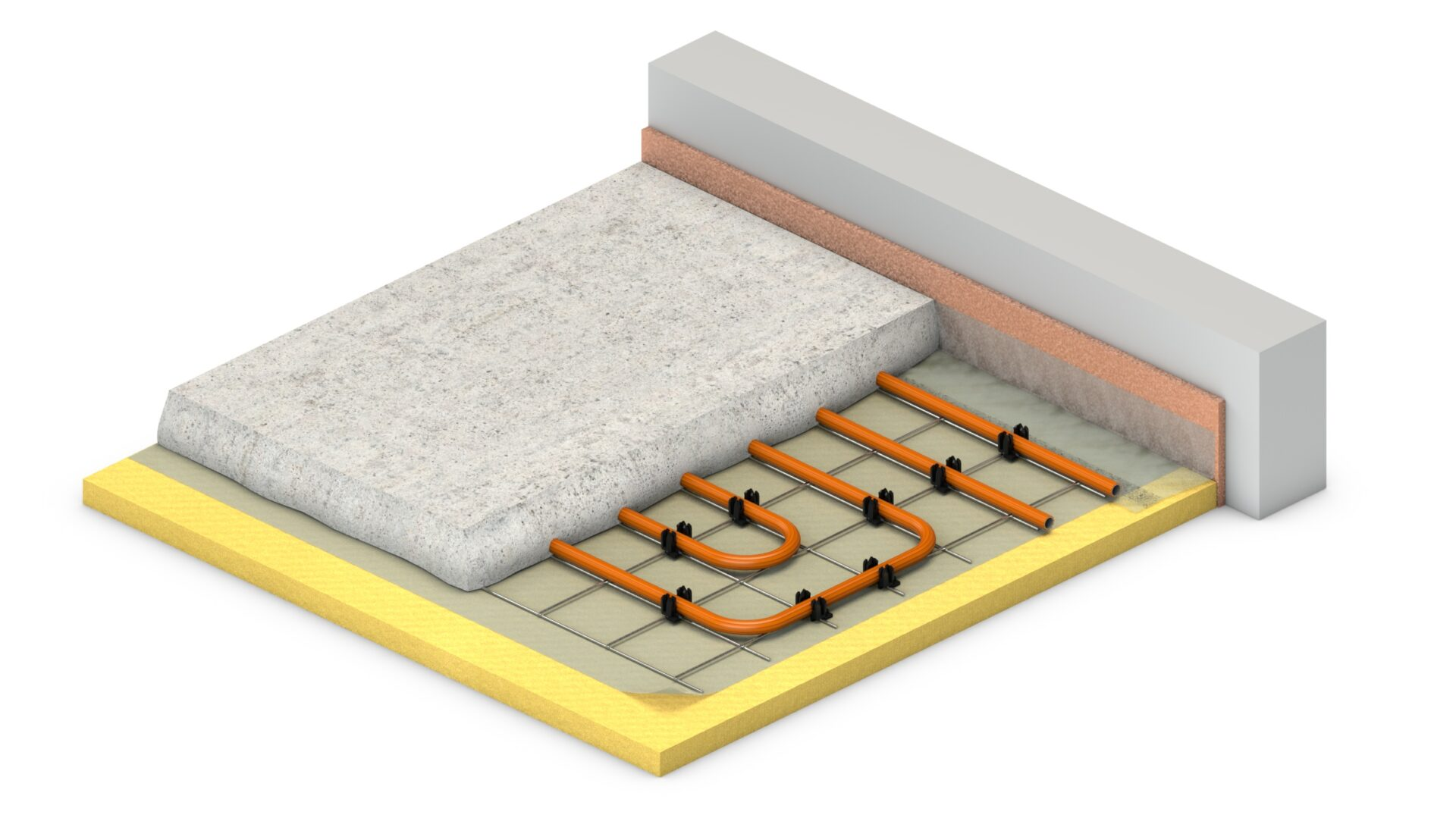 VarioClip: vloerverwarming op draadstaalmatten