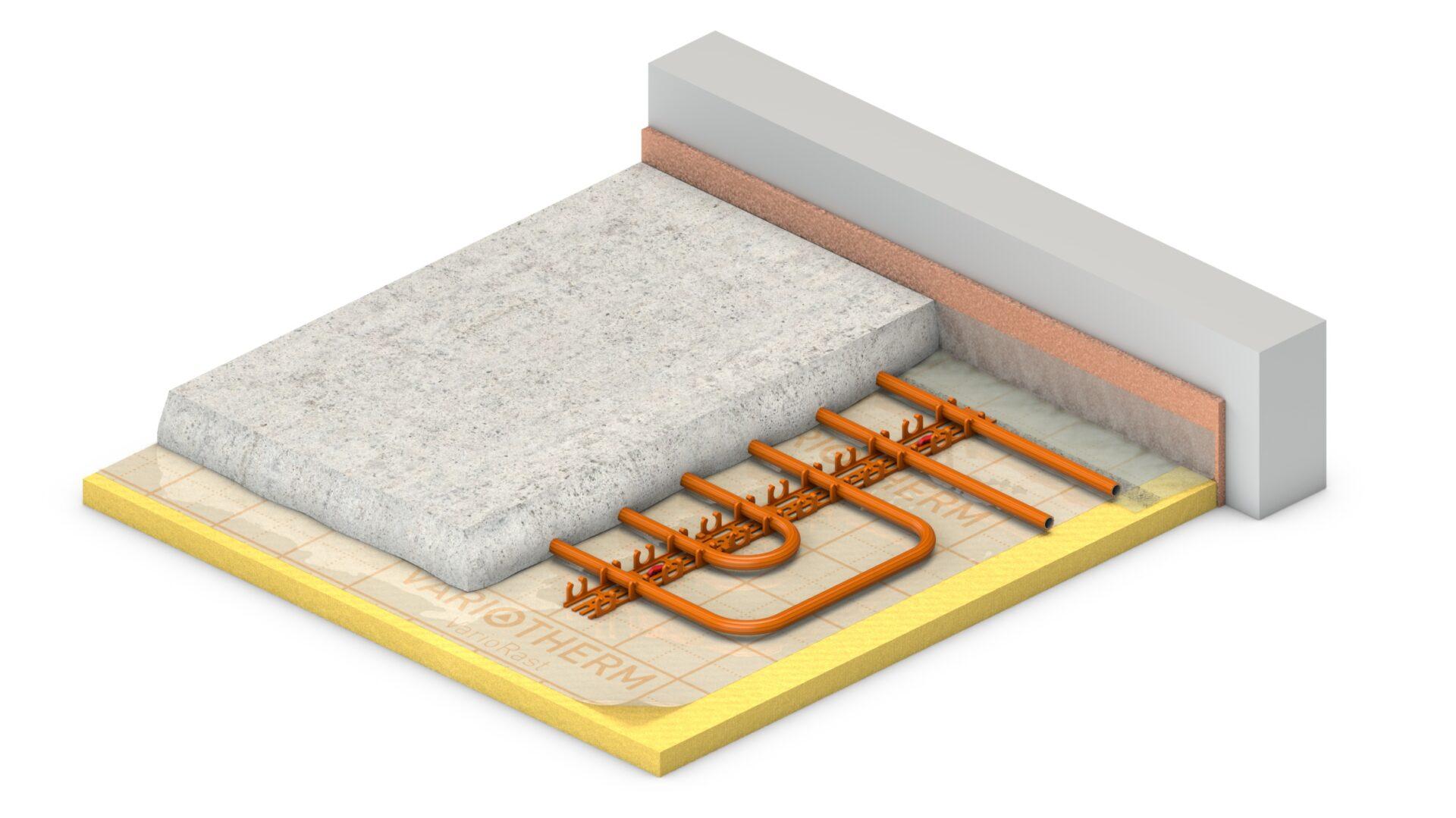 VarioRast: vloerverwarming op kunststof rails