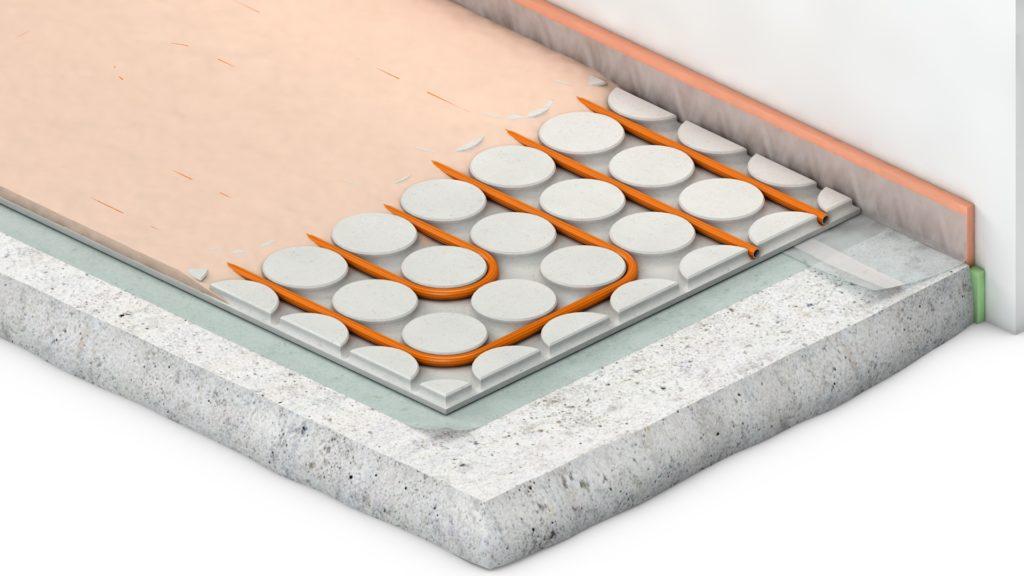Variokomp droogbouw vloerverwarming - Opbouw - Variotherm - Technea