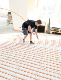 Variokomp lage opbouw vloerverwarming