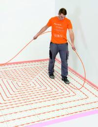 Variokomp lage opbouw vloerverwarming installeren