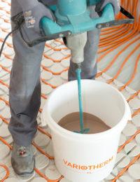 Variokomp vloerverwarming vulmassa maken