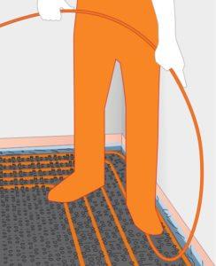 Variothern noppenplaat vloerverwarming