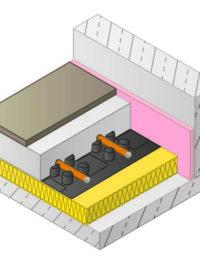 Vloerverwarming met noppenplaat opbouwhoogte en dikte