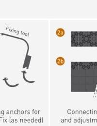 Vloerverwarming noppenplaat zonder isolatie en met isolatie