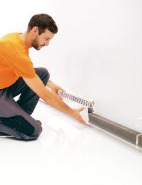 Plintverwarming aanleggen