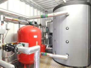 Buffervat in biomassa-installatie