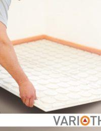 Lage opbouw vloerverwarming leggen