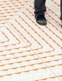 Variokomp droogbouw vloerverwarming leggen