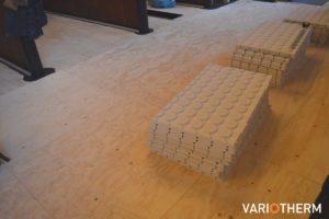 Vloerverwarming op houten vloer