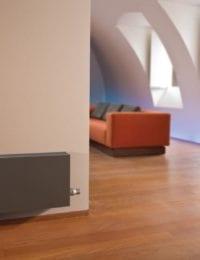 Jaga Strada radiator in de woonkamer