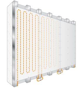 Droogbouw wandverwarming met fermacell panelen