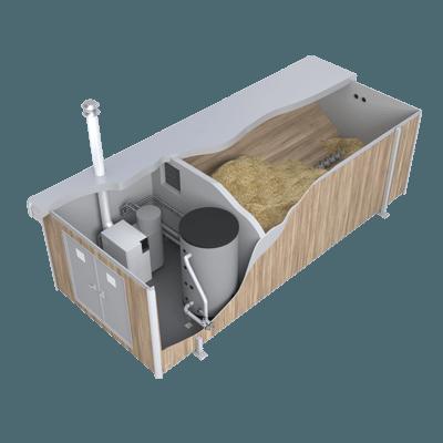 Prefab biomassa installatie