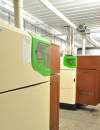 Binnekant prefab biomassa installatie