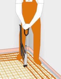 tackerplaat vloerverwarming installeren