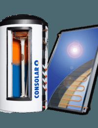 Zonneboilerset vlakkeplaat zonnecollectoren