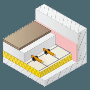 Vloerverwarming draadstaal-matten