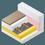 Vloerverwarming noppenplaat