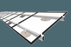 Hellend dak montagesysteem
