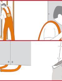 Installatie / Montage wandkoleing