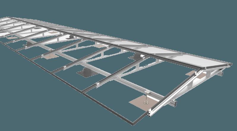 Ballastvrij montagesysteem voor plat dak