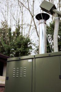 Rookgasafvoer biomassaketel voor buiten
