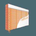 Muurverwarming pleister stuc leem