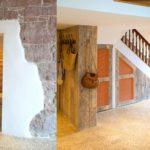Wandverwarming op ronde stenen muur