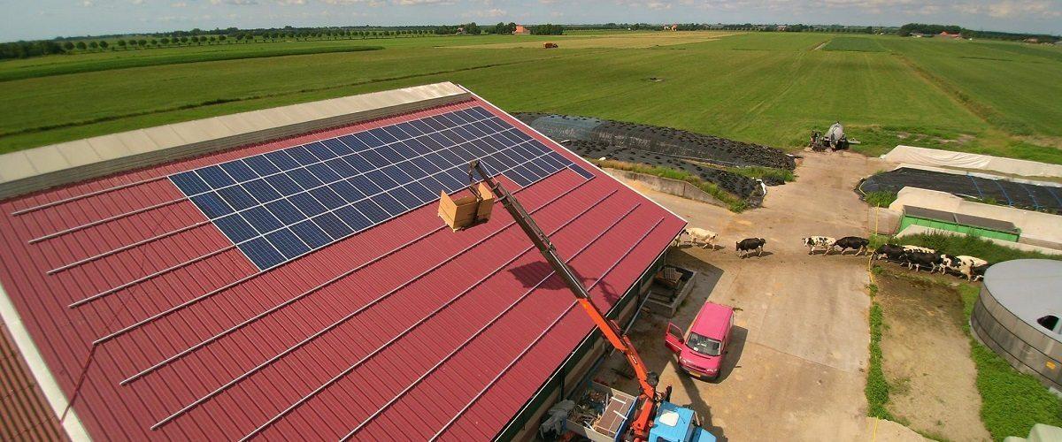 6400000m² zonnepanelen op agrarische daken