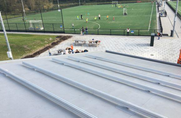 PVC dakbedekking voorzien van zonnepanelen