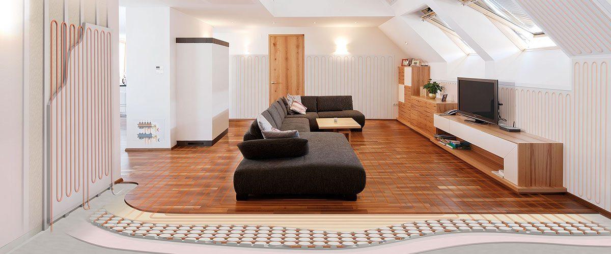 Variokomp dunne vloerverwarming voor als er weinig opbouwhoogte is