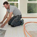 Variokomp droogbouw vloerverwarming op eerste verdieping