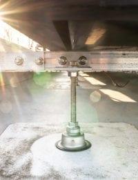 Ballastvrije dakconsoles / constructiemateriaal voor op gebogen dak