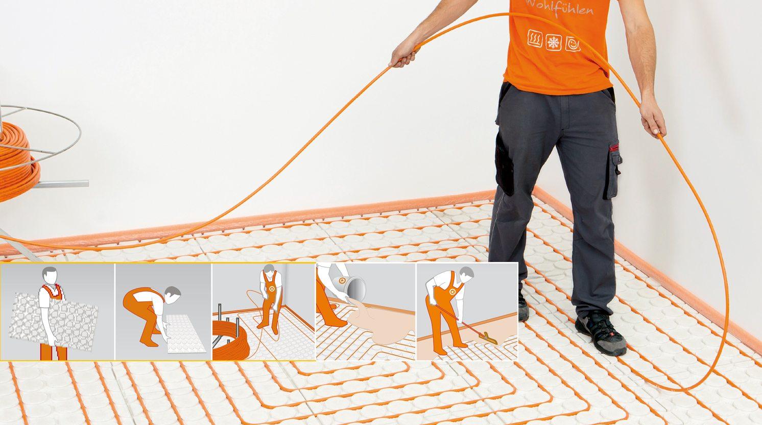 Bekend Vloerverwarming bij bestaande vloer: Wat zijn de mogelijkheden? RY84