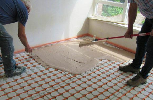 vloerverwarming over houten vloer