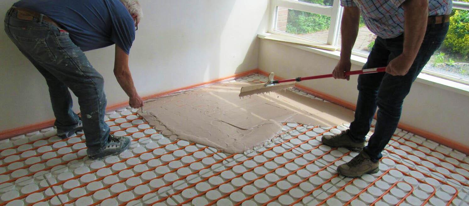 Vloerverwarming over houten vloer? klik voor de 20mm droogbouw variant