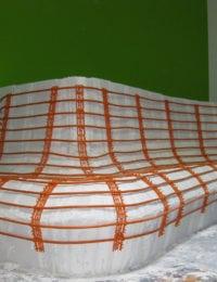 Wandverwarming op ronde vormen