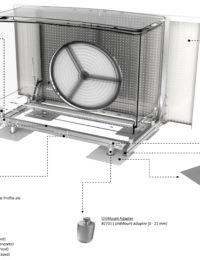JualSolar warmtepomp montageframe onderdelen overzicht