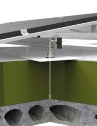 Zonnepanelen op betonnen geisoleerd dak