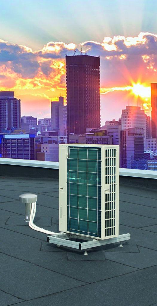 Warmtepomp op dak