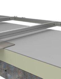 Bevestiging zonnecollectoren op platte daken