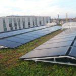 Zonnepanelen op groen dak