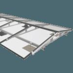 Oost west systeem voor zonnepanelen op plat dak