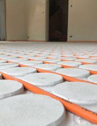 Droogbouw vloerverwarming op houten vloer