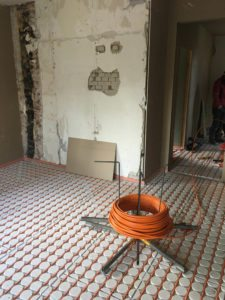 Droogbouw vloerverwarming op eerste en tweede verdieping